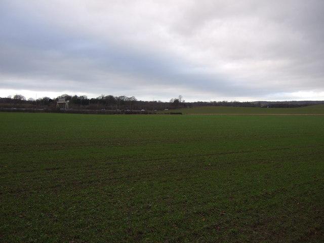 Farmland towards the A1(M)