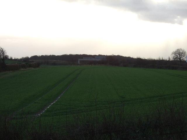 Farmland near the M1