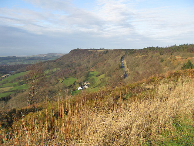 Traffic toiling up Sutton Bank