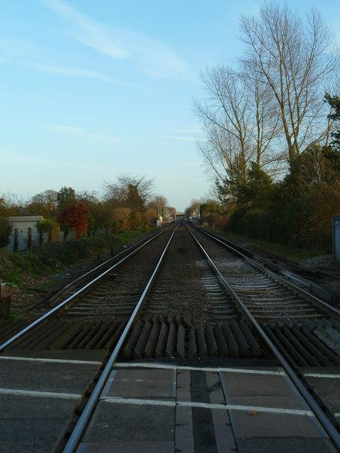 Railway line to Fishbourne Station
