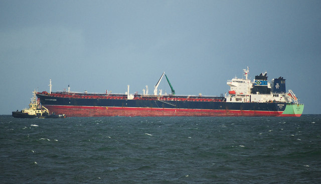 Two oil tankers off Orlock