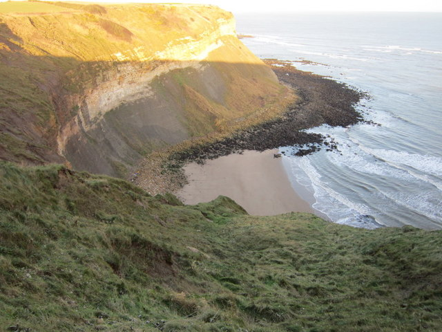 A small beach at Newbiggin Cliff