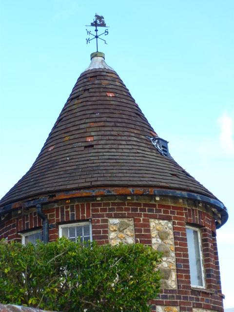 Turret and weathervane on Shore Road in Bosham