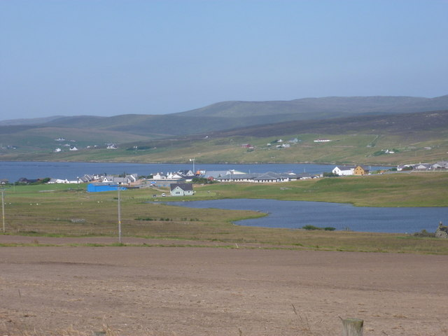 Aith: across Loch of Houster and the village