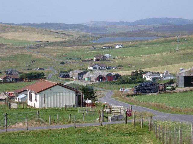 Twatt: road through the village