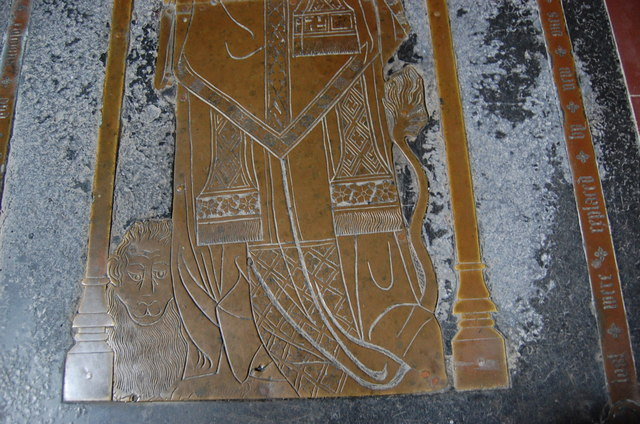 Detail of Brass, St Margarets church, Horsmonden