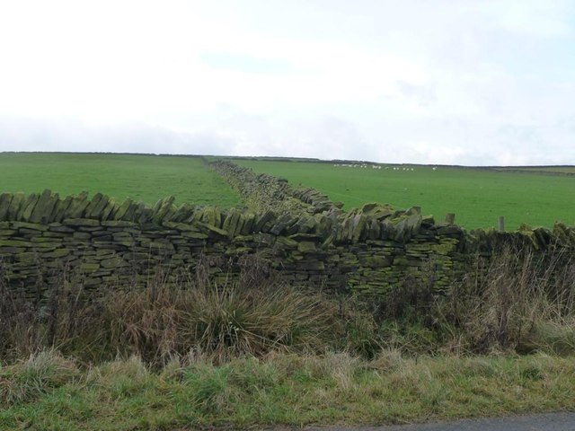 Dry stone walls near Slack Terrace