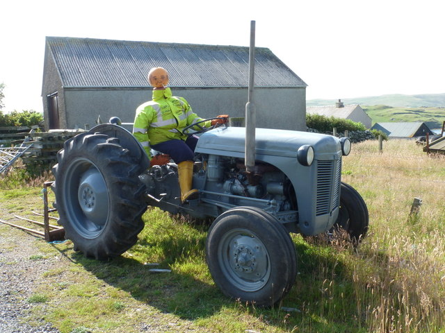 Clousta: a tractor-driving mannequin