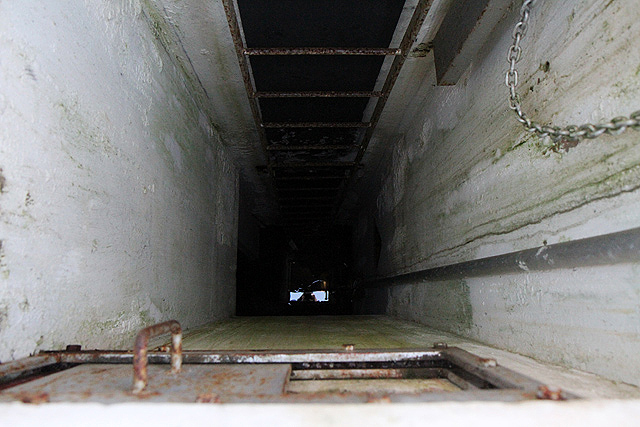 Looking down the access chamber of the Langholm ROC post