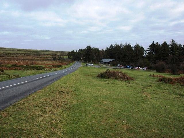 Approaching the Dartmoor National Park centre below Haytor Rocks