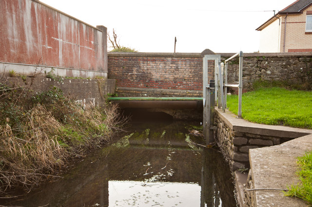 A bridge on Gloster Road as seen from upstream on Coney Gut