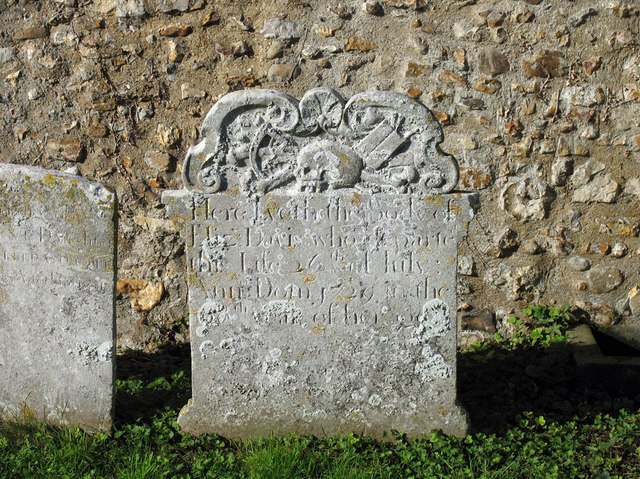 St Katharine, Gosfield - Gravestone