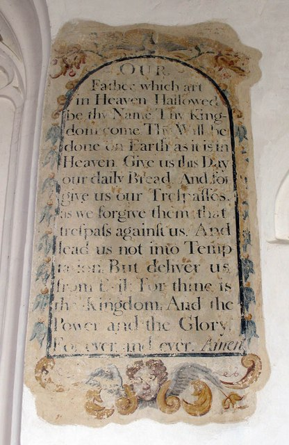 St Katharine, Gosfield - Pater noster