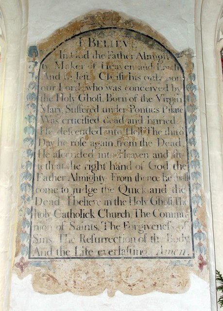 St Katharine, Gosfield - Credo