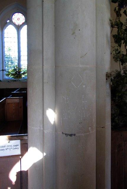 St Peter & St Paul, Bardfield Saling - Graffiti