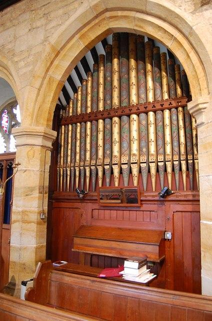 Organ in St Margaret's church, Horsmonden