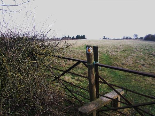 Path towards  Drayton Farm