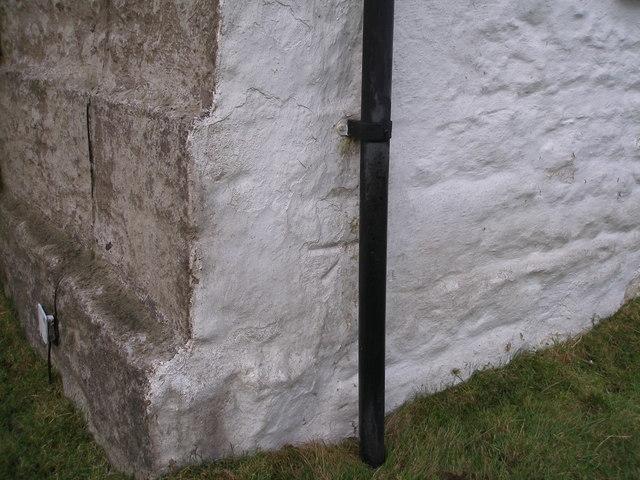 Cut bench mark on the house at Boulsworth Dyke Farm