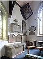 TL6832 : St John, Finchingfield - Hatchment & wall monuments by John Salmon