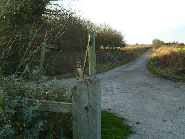 Looking along Hook Lane from the east