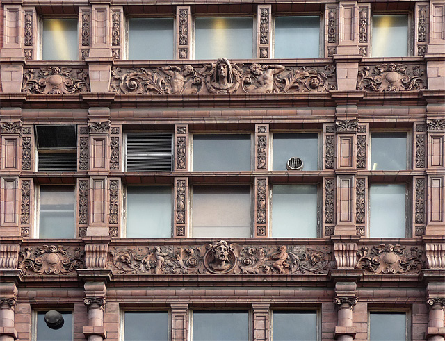 Detail of former UMIST building, Sackville Street, Manchester (1)