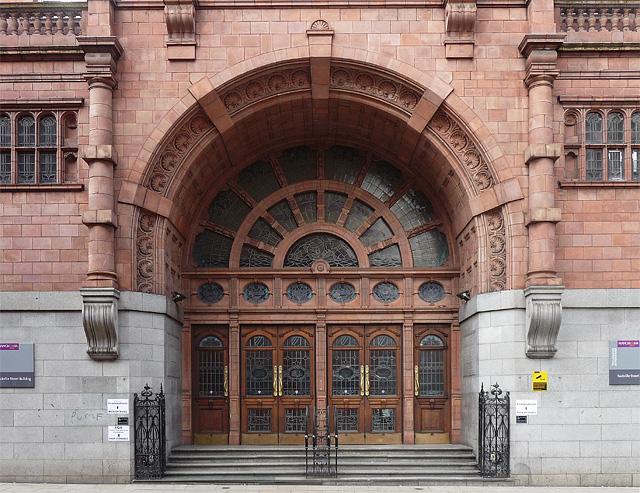 Detail of former UMIST building, Sackville Street, Manchester (2)