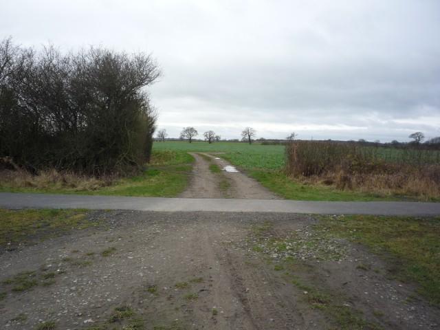 Tracks near Glade Farm