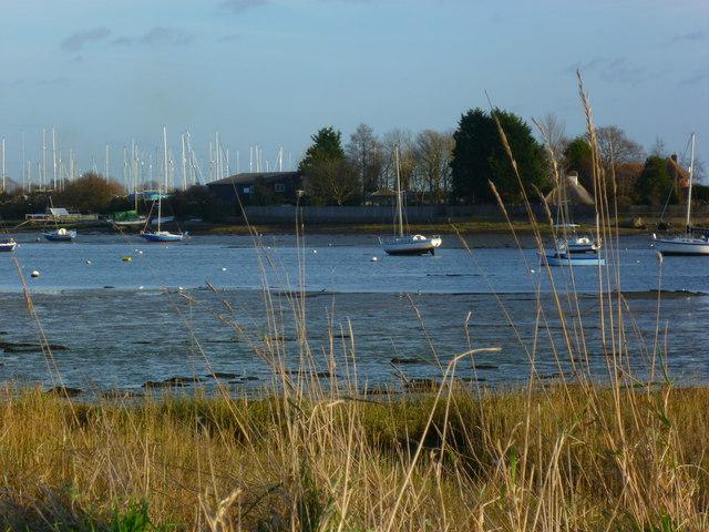 Looking east across Fishbourne Channel