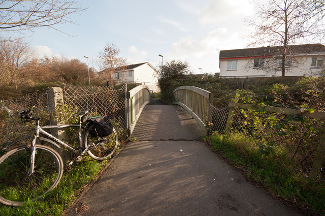 A footbridge over Coney Gut near Town Walk