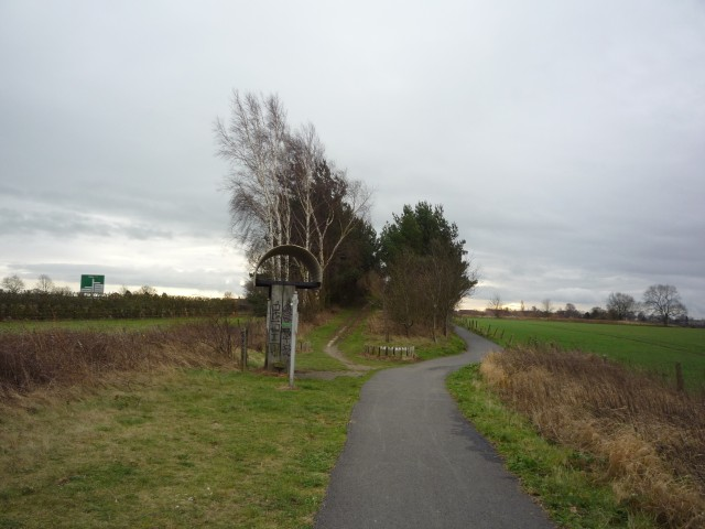 Shelter on York to Selby cycle route