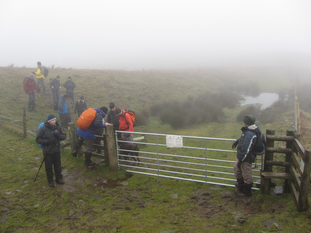 Beacons Way stile on Fan Frynych