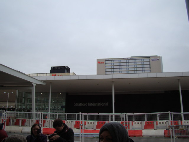 View of Westfield from Stratford International DLR station