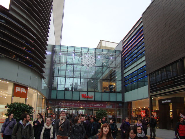 View of the Westfield exit to Stratford International station