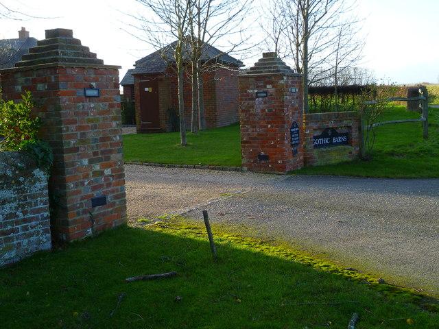 Entrance at Gothic Barns