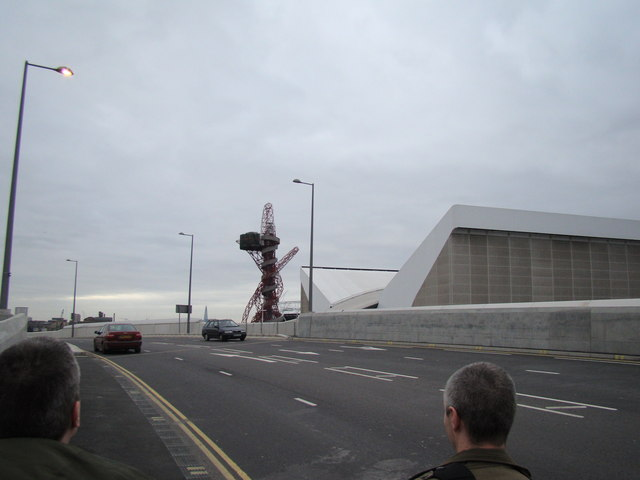 View of the Olympic viewing tower from Westfield Way