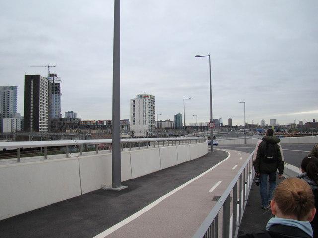 Buildings and railway lines in Stratford, viewed from Westfield Way #2