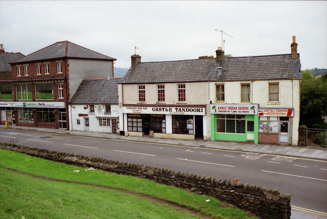 Old Caerphilly Town Centre in 1989