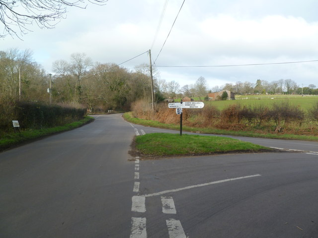 Corfe Mullen, road junction