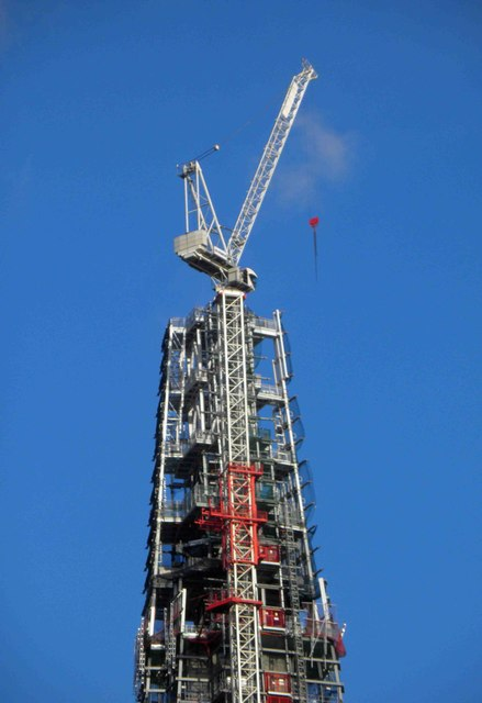 The Shard nearing its full height