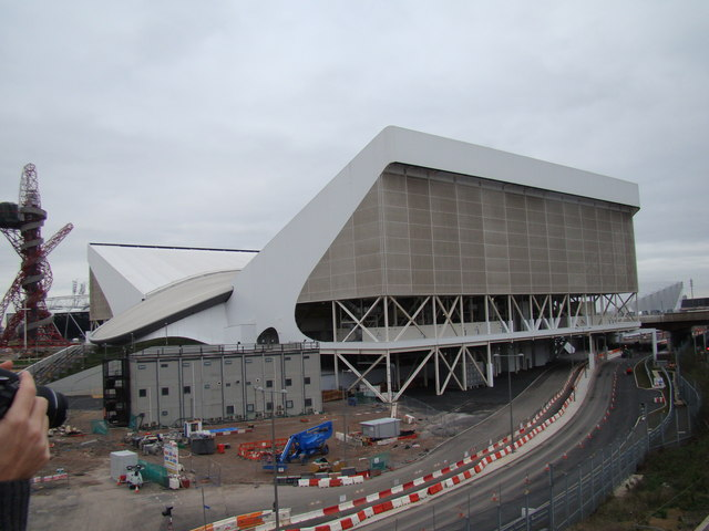 View of the Aquatics Centre from Westfield Way