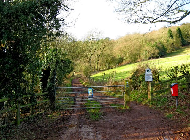 Entrance to track onto the Clent Hills, near Clent
