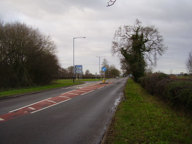 Junction on the B4453. The Straight Mile