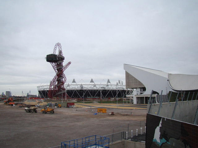 View of the Olympic Stadium from Westfield Way