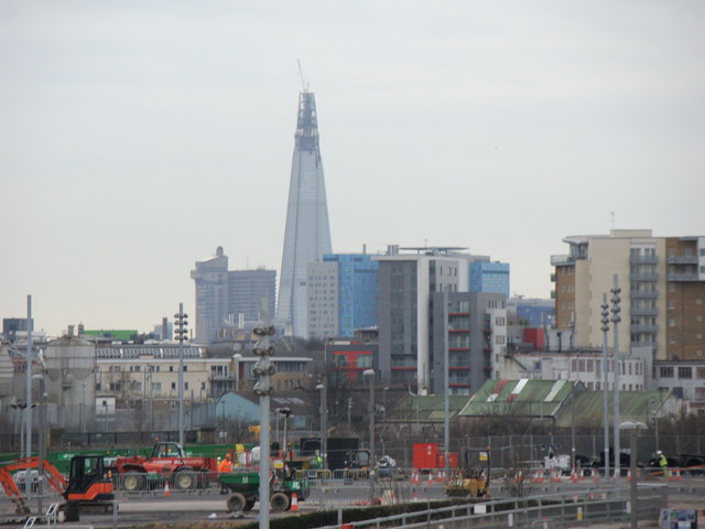 View of the Shard from Westfield Way