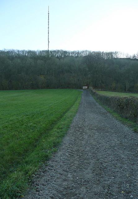 Towards Hannington transmitter
