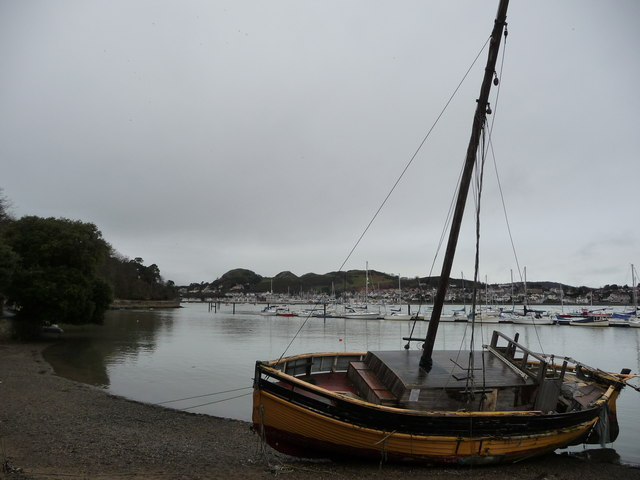 Part of the Afon Conwy looking towards Deganwy