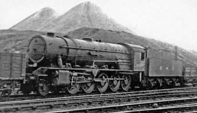 War Department 2-10-0 in Motherwell Locomotive Yard