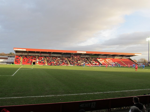 The East Stand at Aggborough: home of Kidderminster Harriers