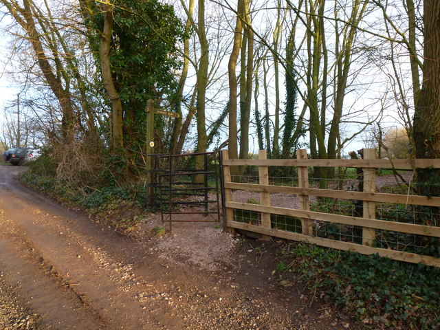 Gate on Offa's Dyke Path at Buttington Tump, Sedbury