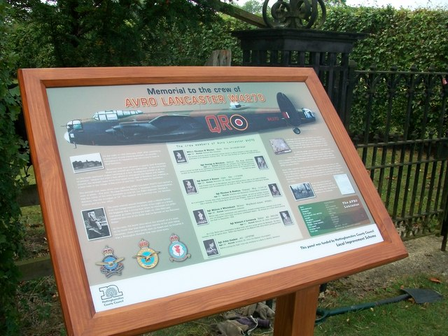 Interpretation Board for the Lancaster W4270 Memorial